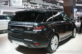 range rover sport 2015 range rover sport rear three quarter at the 2015 detroit auto show