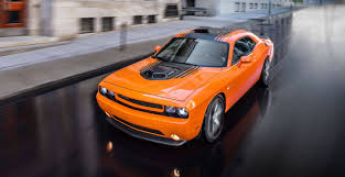 2014 dodge challenger shaker muscle car with air intake hood