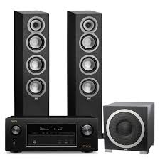 denon home theater receiver denon avrx2300w 7 2 channel a v receiver w elac uni fi uf5 3 1