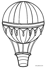 air balloon coloring pages free printables balloon crafts