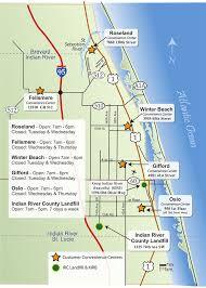 Sebastian Florida Map by Landfill Convenience Centers