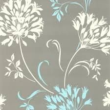 Contemporary Wallpaper Nerida Light Grey Floral Silhouette Wallpaper Dl30458 The Home Depot