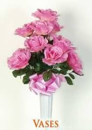 Vases Of Roses Graveside Flowers Artificial Flower Arrangements For Cemeteries