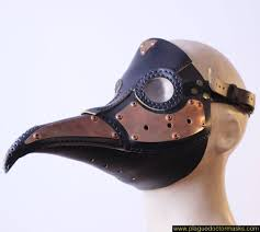 leather plague doctor mask steunk plague doctor mask copper leather worldwide shipping