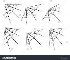 halloween web template corner spider web template