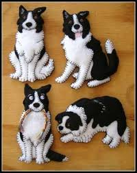 handmade ornament felt border collie by squshies