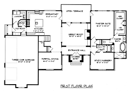 country open floor plans interior cedg4450 ff country french house plan graceful floor