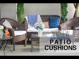 Outside Cushions Patio Furniture No Sew Patio Cushion Covers
