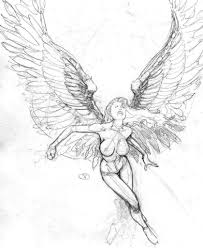 angel drawings sketches gudu ngiseng blog tattoo sketch angel
