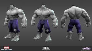 hulk gray skin costume marvel heroes model sheets