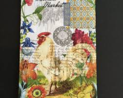 Flowers For Crafts - collage serviette etsy