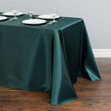 90 x 156 table x 156 in rectangular satin tablecloth hunter green