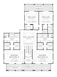 Simple 4 Bedroom House Plans House Plans With Three Master Suites Ideas Including Two Bedroom