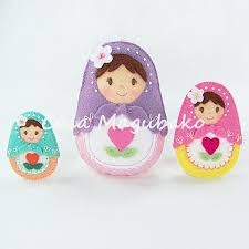 matryoshka doll felt pattern pdf file diy ornament or