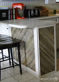diagonal planked reclaimed wood kitchen island remodelaholic