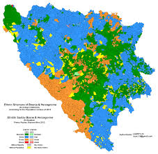 New York Times Census Map by Ethnic Make Up Of Bosnia And Herzegovina According To The 2013