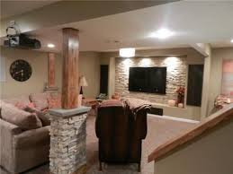 Wall Ideas For Basement Basement Feature Wall With Tv Use Brick Veneer And Frame The Area