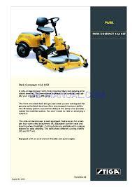 handbuch für rasenmäher stiga park compact 13 5 hst 13 6102 16