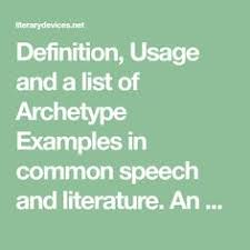 archetypal themes list what is an archetype check out these archetype exles character