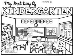 these coloring pages will make an easy first day of