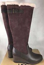 ugg australia womens emalie brown stout leather ankle boot 7 ebay ugg australia leather wedge s us size 9 ebay