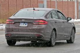 Led Strip Tail Lights by 2017 Ford Fusion Mondeo Loses Some Camo Spyshots Show Rear Led