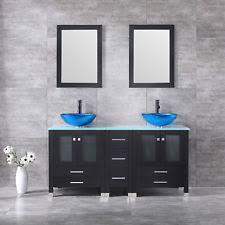 Bathroom Vanities With Glass Tops Tempered Glass Vanity Ebay