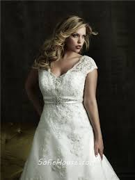 plus size wedding dress designers a line v neck court modest designer lace plus size wedding