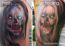 are you planning for a tattoo these pics expose how tattoos fade