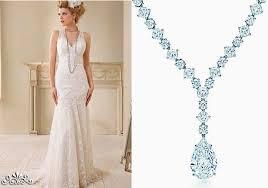 wedding dress necklace wedding necklace v neck dress