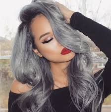black grey hair balayage ombre grey hair charcoal to silver balayage hair