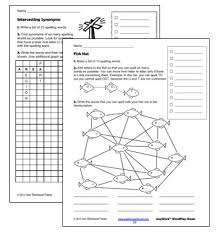 spelling worksheets for fun practice with spelling words