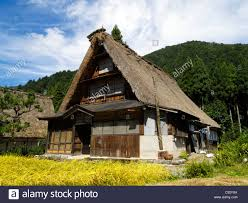 traditional gassho zukuri style house in suganuma village
