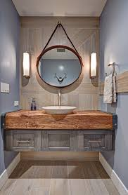 Reclaimed Wood Bathroom Reclaimed Wood Bathroom Cabinet With Farmhouse Hanging Mirror
