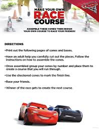 game design your own car free printable cars 3 board game recipe build your own race