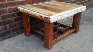 reclaimed wood coffee table design pictures