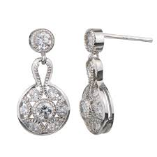 bridal drop earrings bridal jewelry vera s deco drop earrings