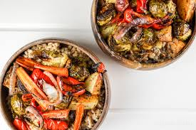 Roast Vegetable Recipe by Honey Balsamic Roasted Vegetable Bowls Slender Kitchen