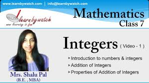 integers mathematics for class 7 video 1 youtube