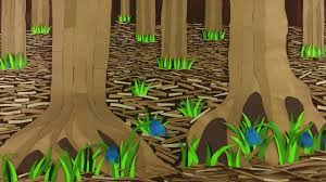 making a forest scene craft project using paper cardboard and