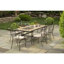 alfresco home loretto 8 person mosaic dining set ultimate patio