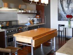 kitchen modern kitchen with portable island and stainless frame