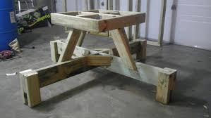 Plans Building Wooden Picnic Tables by How To Build A Diy Floating Picnic Table 25 Photos