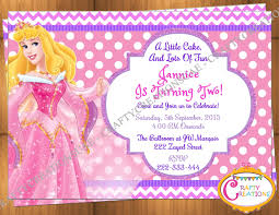 sleeping beauty princess aurora invitation birthday party