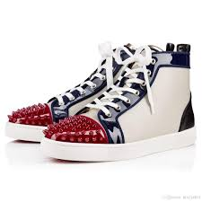 2018 2016 lous spikes men u0027s flat sneakers tri colored red bottom