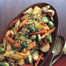 roasted vegetables with pecan gremolata recipe epicurious