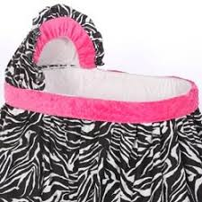 Pink Zebra Crib Bedding Minky Zebra Bassinet Bedding Size 13x29 Bassinet