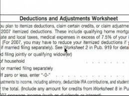 W4 Worksheet Basic Explanation Of W 4 Tax Form Deductions Adjustments