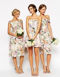 printed bridesmaid dresses oasis amor fashion