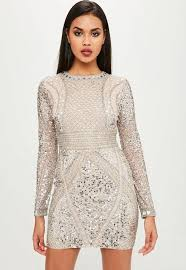 embellished dress carli bybel x missguided embellished mini dress missguided